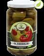 """Зеленые оливки с перцем, """"Amado"""" 350 г"""